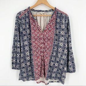 Lucky Brand Button Up Boho Tunic